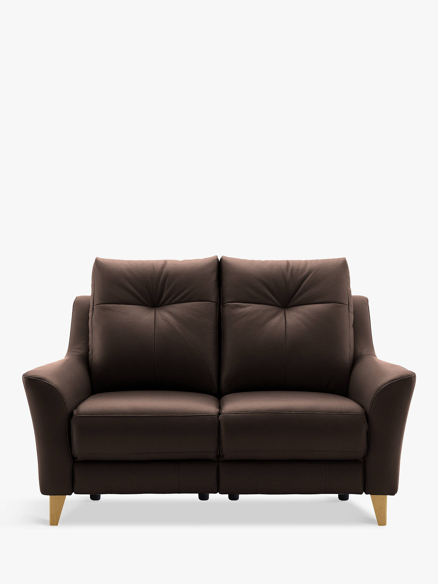 G Plan Hirst Recliner Small 2 Seater Leather Sofa Dreams Buffalo Online At