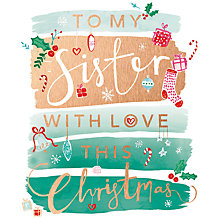 Buy Cardmix Sister with Love This Christmas Card Online at johnlewis.com