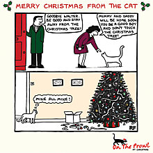 Buy Cardmix Cat Merry Christmas Card Online at johnlewis.com