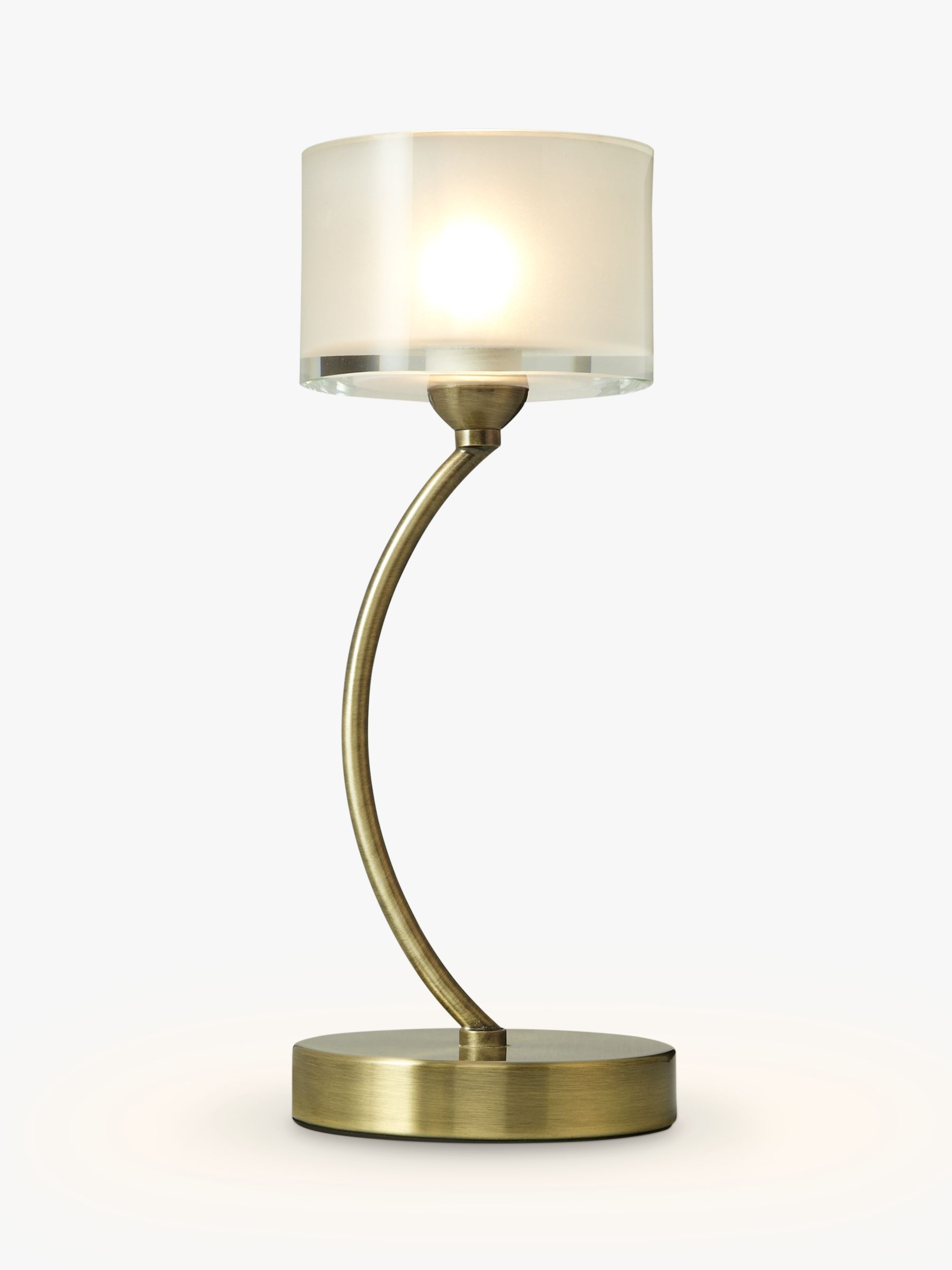 John Lewis Partners Paige Touch On Off Table Lamp Antique Brass At John Lewis Partners