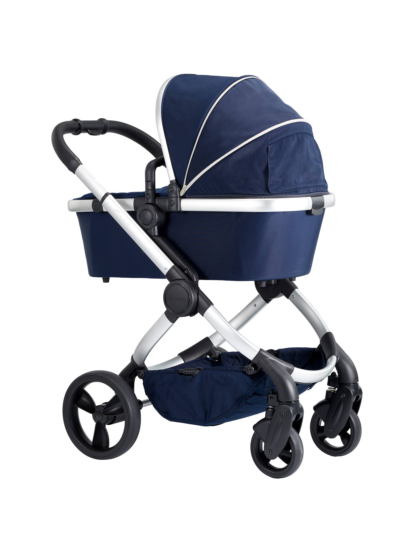 BuyiCandy Peach Satin Pushchair and Carrycot, Indigo Online at johnlewis.com