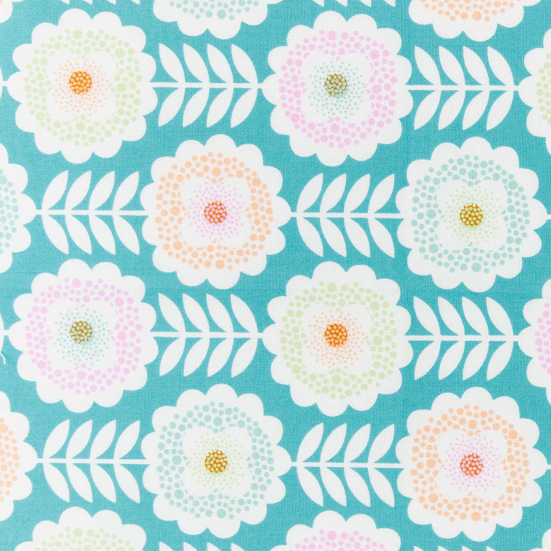 Freespirit Springwater Print Fabric Blush at John Lewis