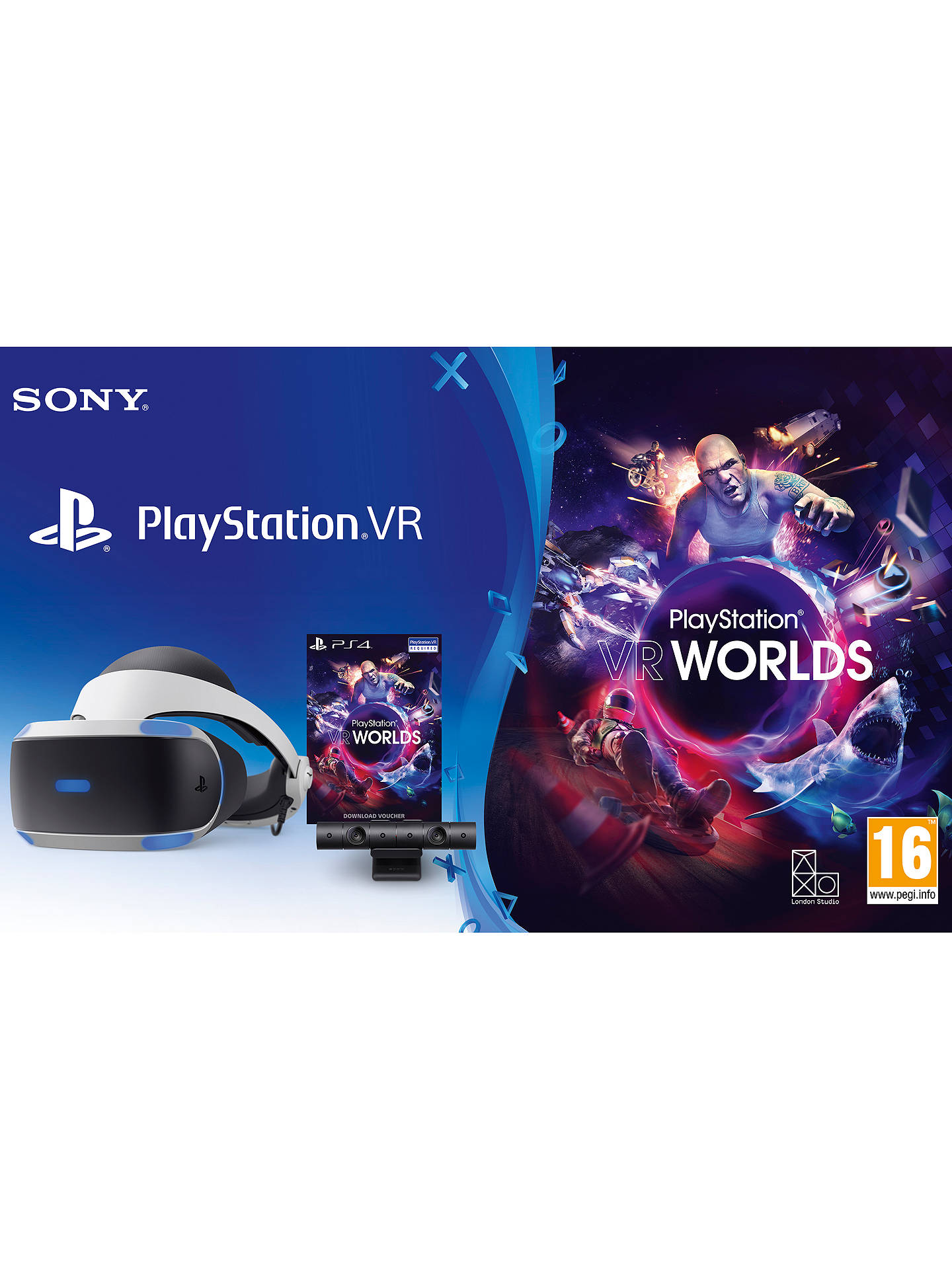 BuySony PlayStation VR Gaming System with PlayStation Camera and VR Worlds PS VR Game Online at johnlewis.com