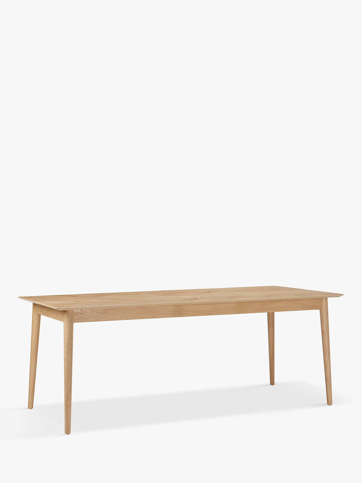 Hudson Living Milano 8 10 Seater Extending Dining Table Oak Online At Johnlewis
