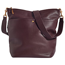 Buy Jigsaw Cameron Leather Hobo Bag, Wine Online at johnlewis.com
