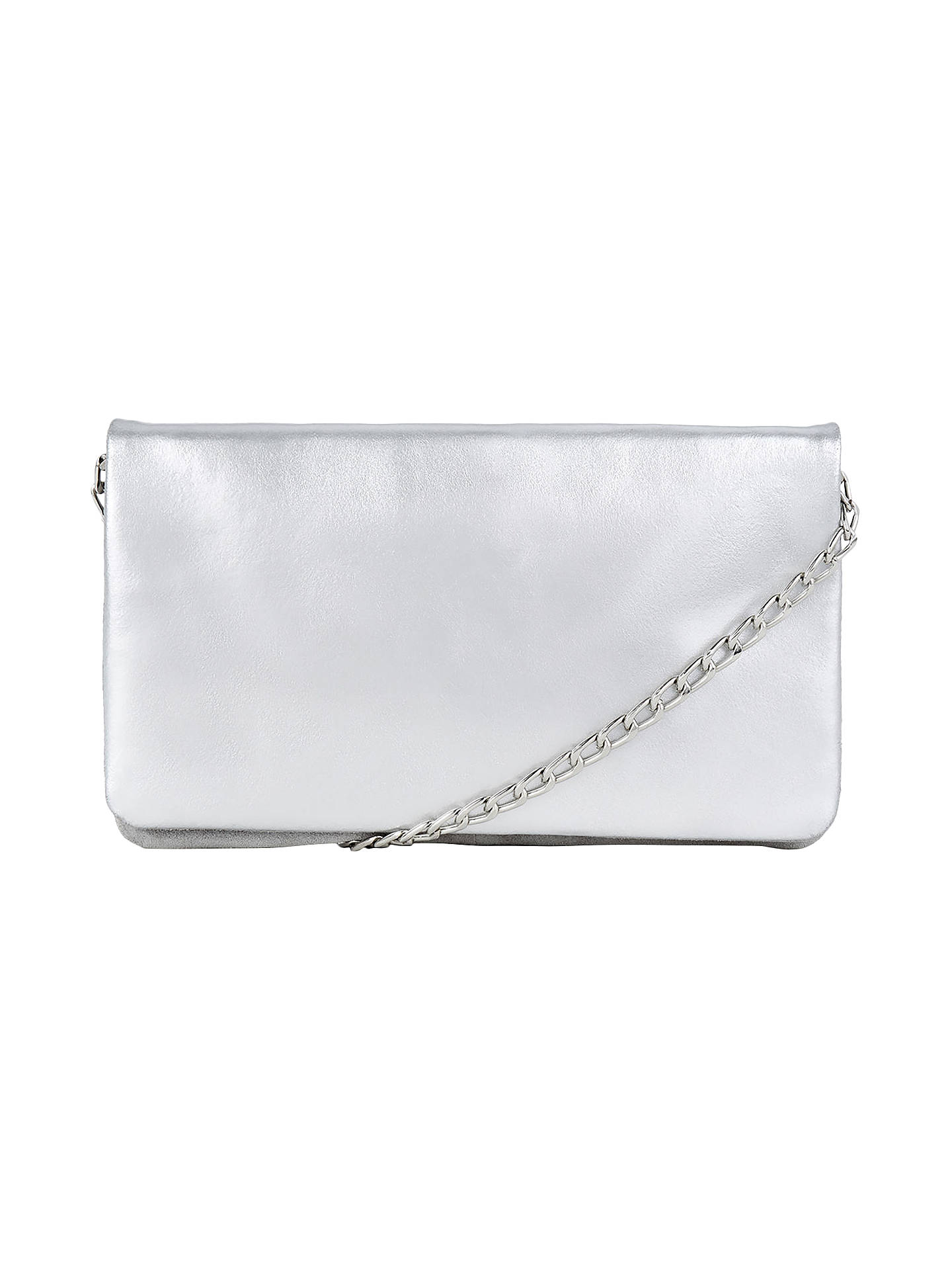 BuyWarehouse Leather Chain Cross Body Bag, Silver Online at johnlewis.com