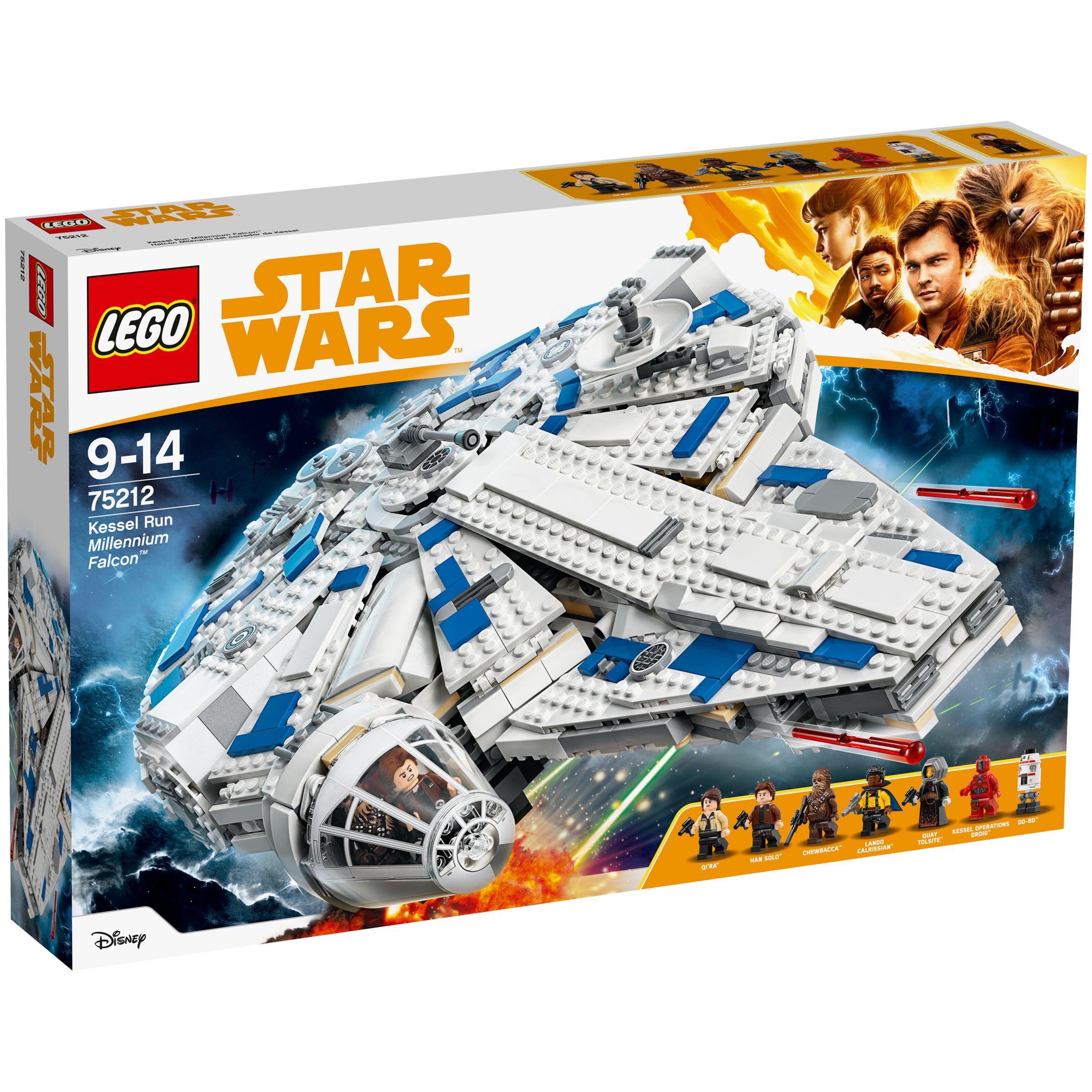 1fbc2e98fe6cd LEGO Star Wars Solo  A Star Wars Story 75212 Kessel Run Millennium Falcon  at John Lewis   Partners