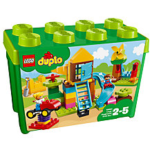 Buy LEGO DUPLO 10864 Large Playground Brick Box Online at johnlewis.com