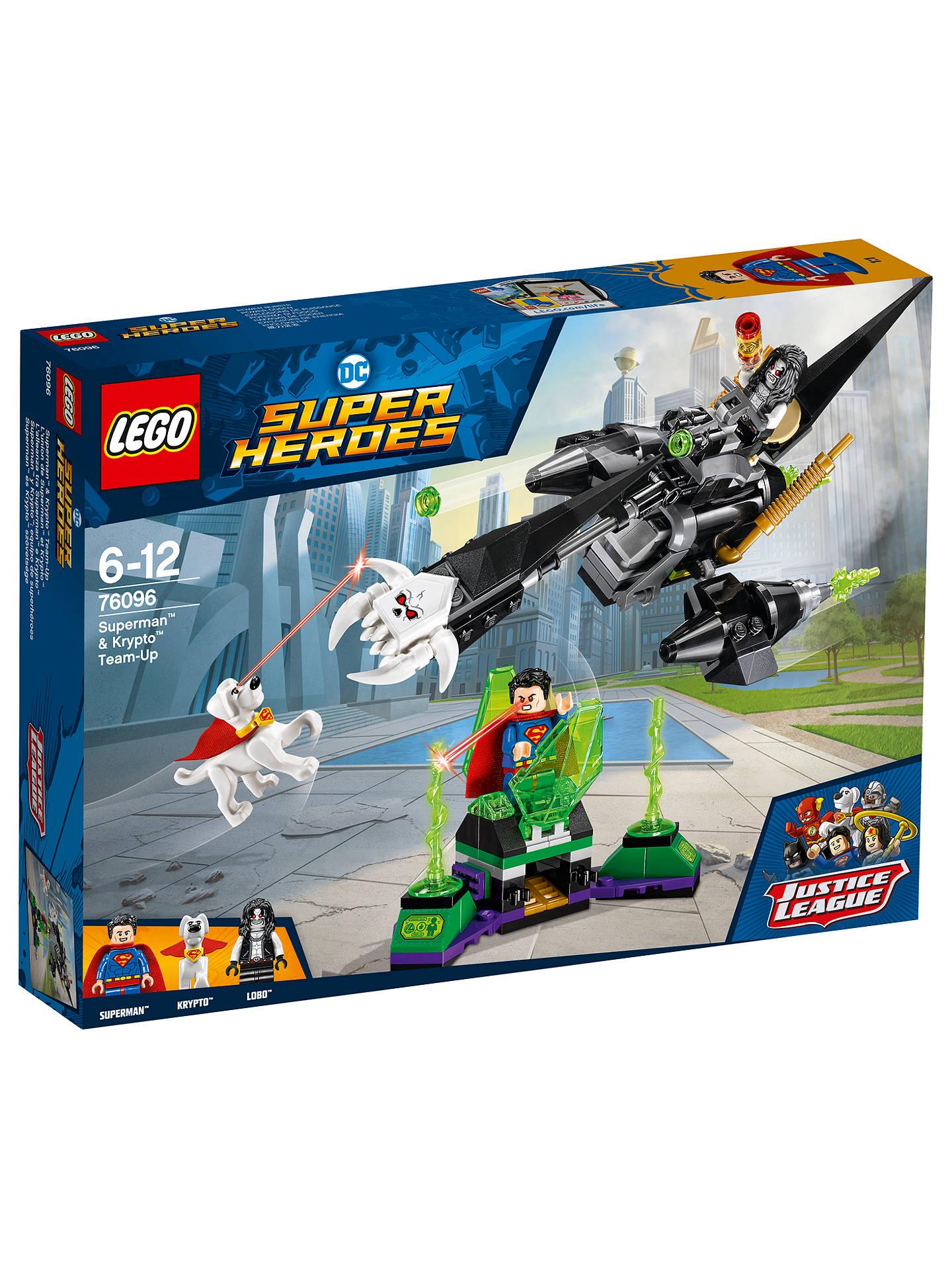 Lego Dc Super Heroes 79096 Superman Krypto Team Up At John Lewis