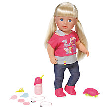 Buy Zapf Baby Born Sister Doll Online at johnlewis.com