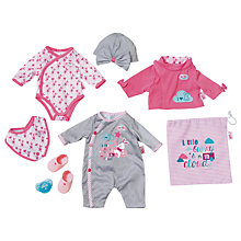 Buy Zapf Born Baby 8-piece Deluxe Fashion Set Online at johnlewis.com