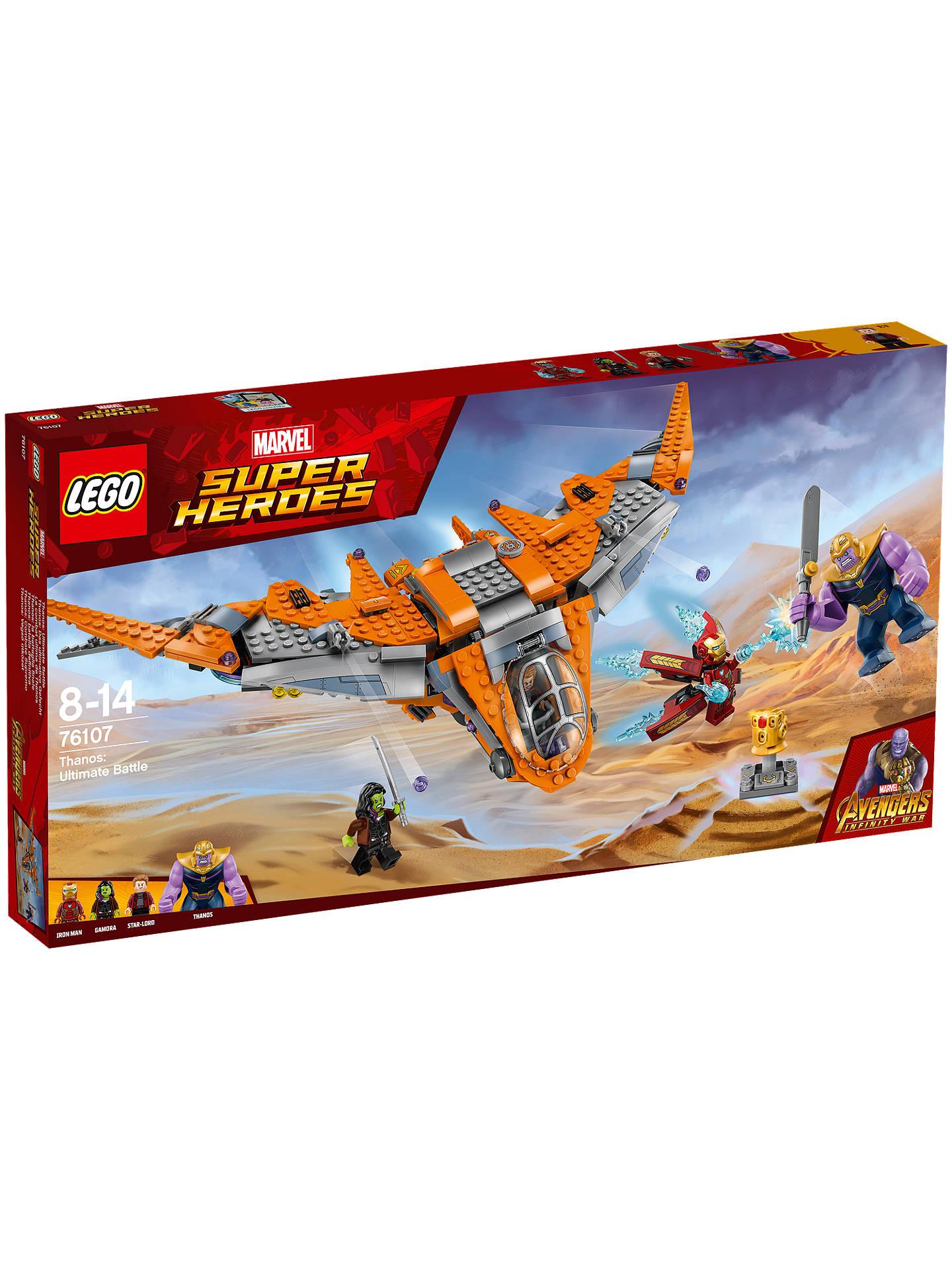 Lego Marvel Super Heroes 76107 Avengers Thanos Ultimate Battle Set