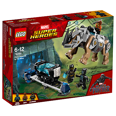 Image of LEGO Marvel Super Heroes 76099 Black Panther Rhino Face-Off by the Mine