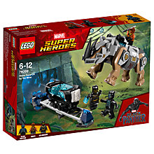 Buy LEGO Marvel Super Heroes 76099 Black Panther Rhino Face-Off by the Mine Online at johnlewis.com