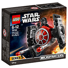 Buy LEGO Star Wars 75194 First Order Tie Fighter Microfighter Online at johnlewis.com