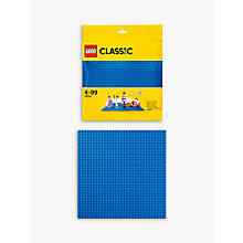 Buy LEGO Classic 10714 Baseplate, Blue Online at johnlewis.com
