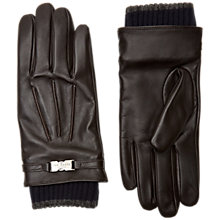 Buy Ted Baker Lenns Leather Gloves, One Size, Brown Online at johnlewis.com