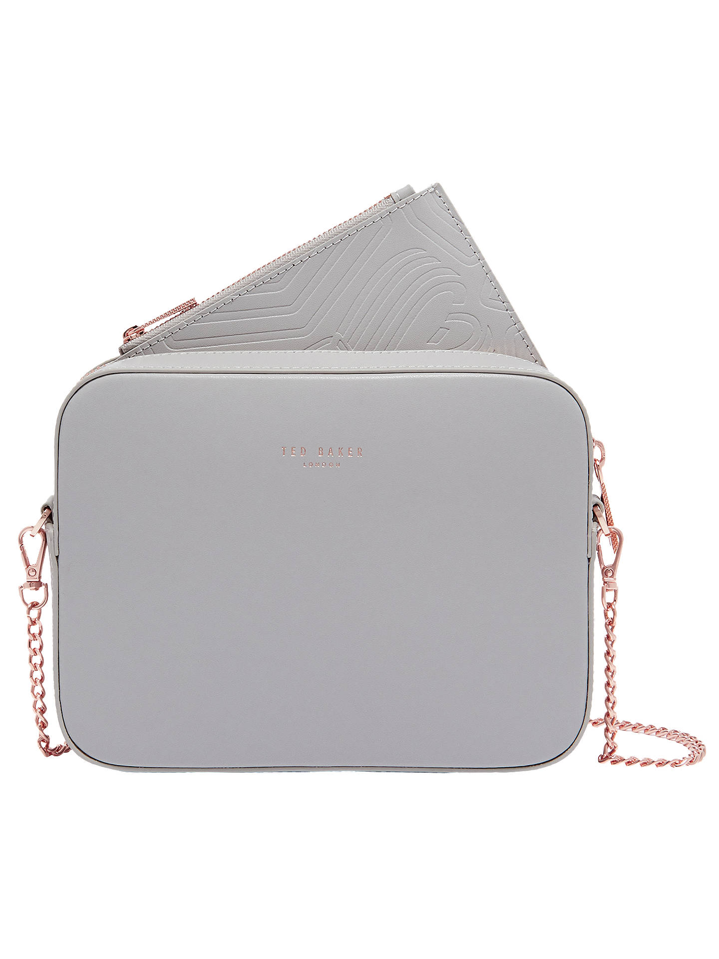 649f06dba Buy Ted Baker Laneyy Leather Cross Body Camera Bag, Light Grey Online at  johnlewis.