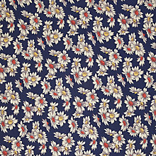 Buy Oddies Textiles Daisy Print Fabric, Navy Online at johnlewis.com