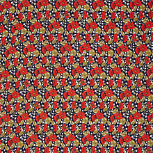 Buy Oddies Textiles Large Flower Print Fabric, Navy Online at johnlewis.com