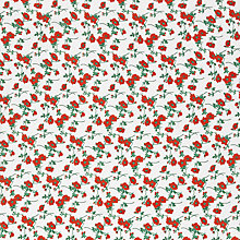 Buy Oddies Textiles Flower Print Fabric, White Online at johnlewis.com