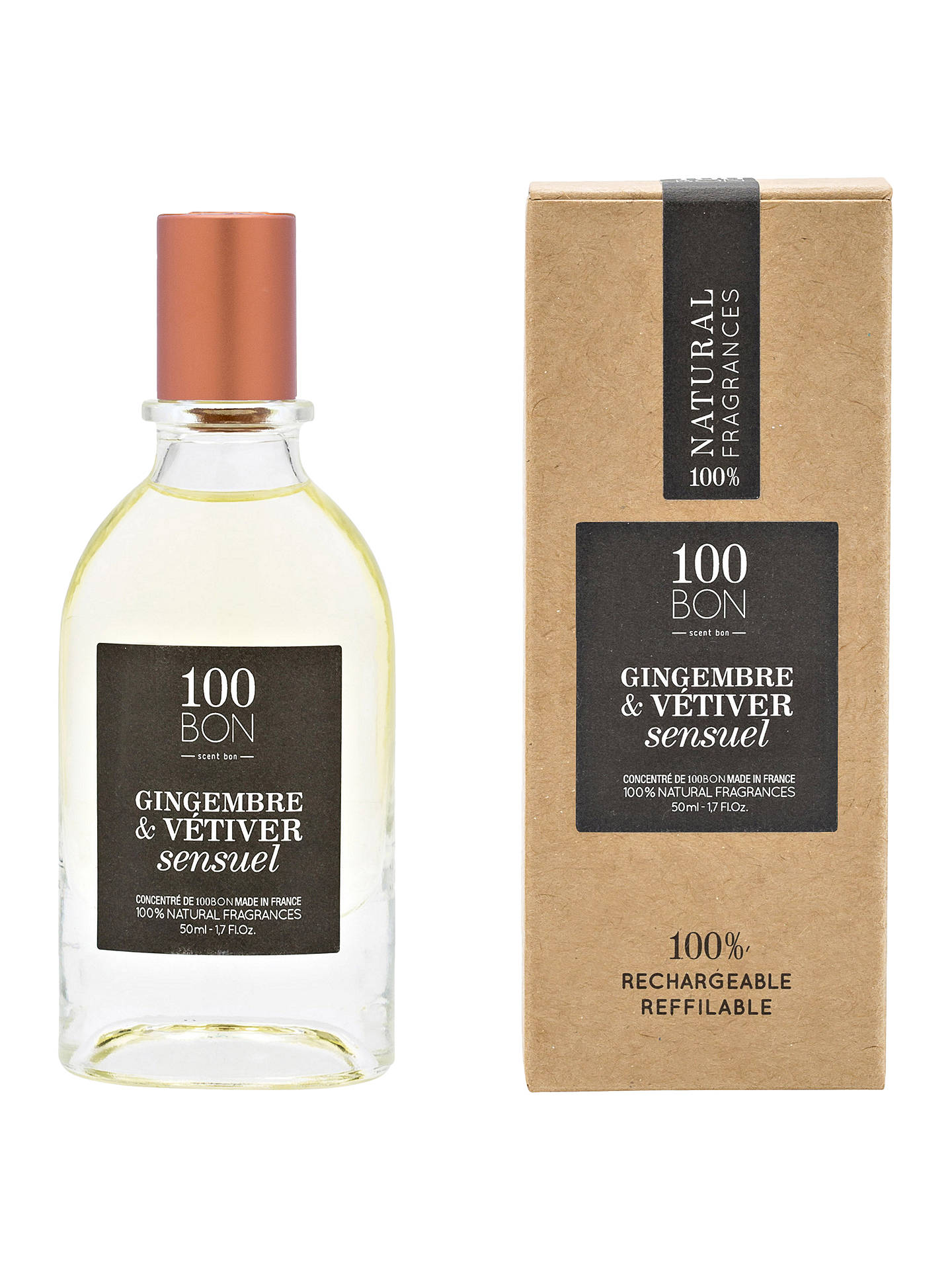 Buy 100BON Gingembre Vetiver Sensuel Eau de Parfum Concentré, 50ml Online at johnlewis.com