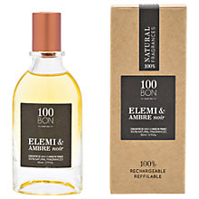 Buy 100BON Elemi & Ambre Noir Eau de Parfum Concentré, 50ml Online at johnlewis.com