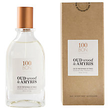 Buy 100BON Oud Wood & Amyris Eau de Parfum, 50ml Online at johnlewis.com