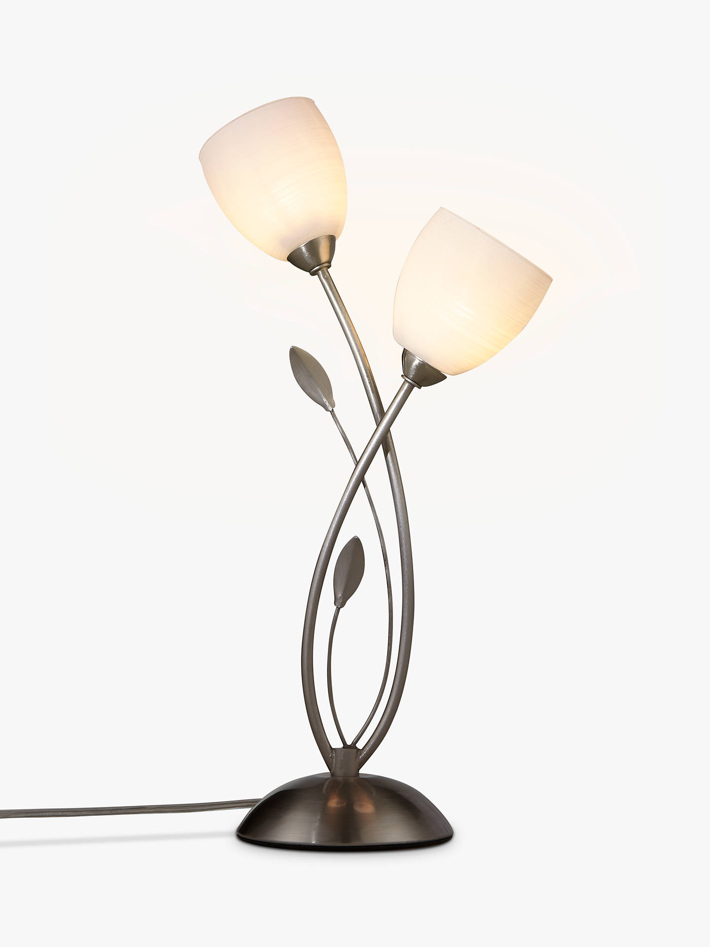 BuyJohn Lewis & Partners Amara Touch On/Off Table Lamp, Satin Nickel Online at johnlewis.com