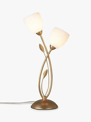 John Lewis & Partners Amara Touch On/Off Table Lamp, Satin Brass