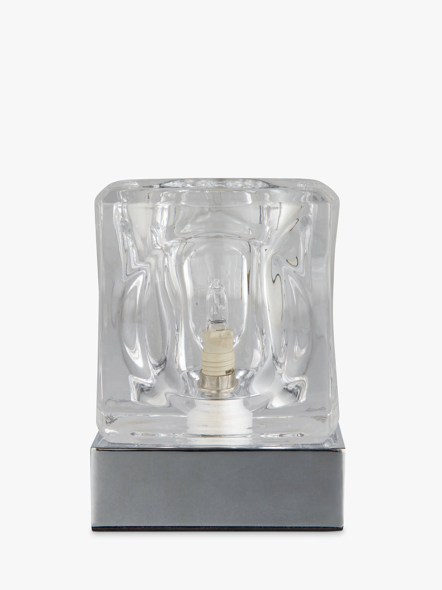 BuyJohn Lewis & Partners Cuboid Touch On/Off Table Lamp, Silver Online at johnlewis.com