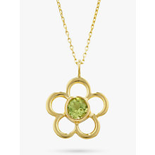 Buy EWA 9ct Gold Birthstone Blossom Pendant Necklace Online at johnlewis.com
