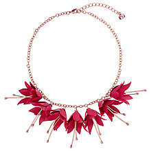Buy Ted Baker Fawna Flower Necklace, Pink Online at johnlewis.com