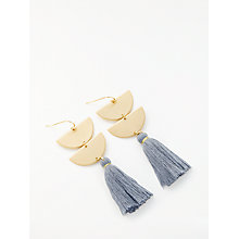 Buy John Lewis Tassel Earrings, Blue/Grey Online at johnlewis.com