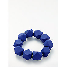 Buy John Lewis Shapes Stretch Bracelet, Blue Online at johnlewis.com