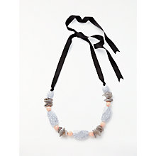 Buy John Lewis Long Marble Beaded Necklace, Multi Online at johnlewis.com