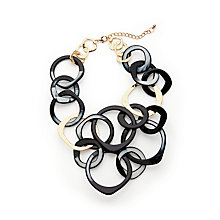Buy John Lewis Statement Hoop Necklace, Black/Gold Online at johnlewis.com