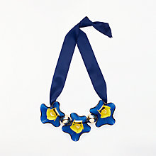 Buy John Lewis Resin Flower Necklace, Blue/Yellow Online at johnlewis.com