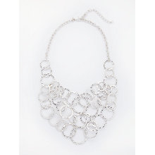 Buy John Lewis Hammered Circle Silver Layered Necklace, Silver Online at johnlewis.com