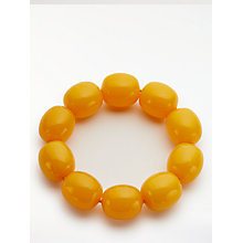 Buy John Lewis Resin Stretch Bracelet, Yellow Online at johnlewis.com