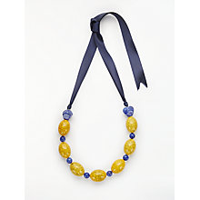Buy John Lewis Crackle Bead Necklace, Yellow Online at johnlewis.com