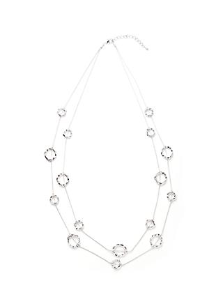 John Lewis & Partners Silver Circle Layered Necklace, Silver