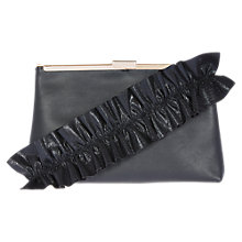 Buy Coast Carolina Ruffle Bag, Black Online at johnlewis.com