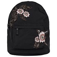 Buy French Connection Anye Embroidered Backpack, Black Online at johnlewis.com