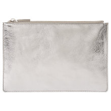 Buy Whistles Metallic Small Clutch, Silver Online at johnlewis.com