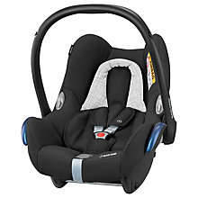 Buy Maxi-Cosi CabrioFix Group 0+ Baby Car Seat, Black Grid Online at johnlewis.com