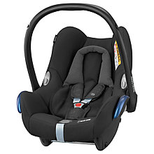 Buy Maxi-Cosi CabrioFix Group 0+ Baby Car Seat, Nomad Black Online at johnlewis.com