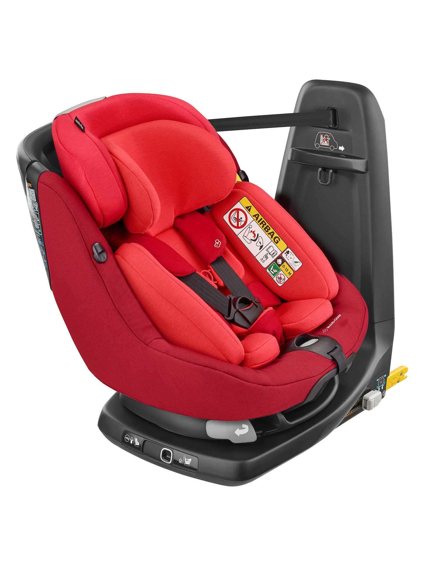 Maxi Cosi Axissfix Plus Group 0 And 1 Car Seat Vivid Red