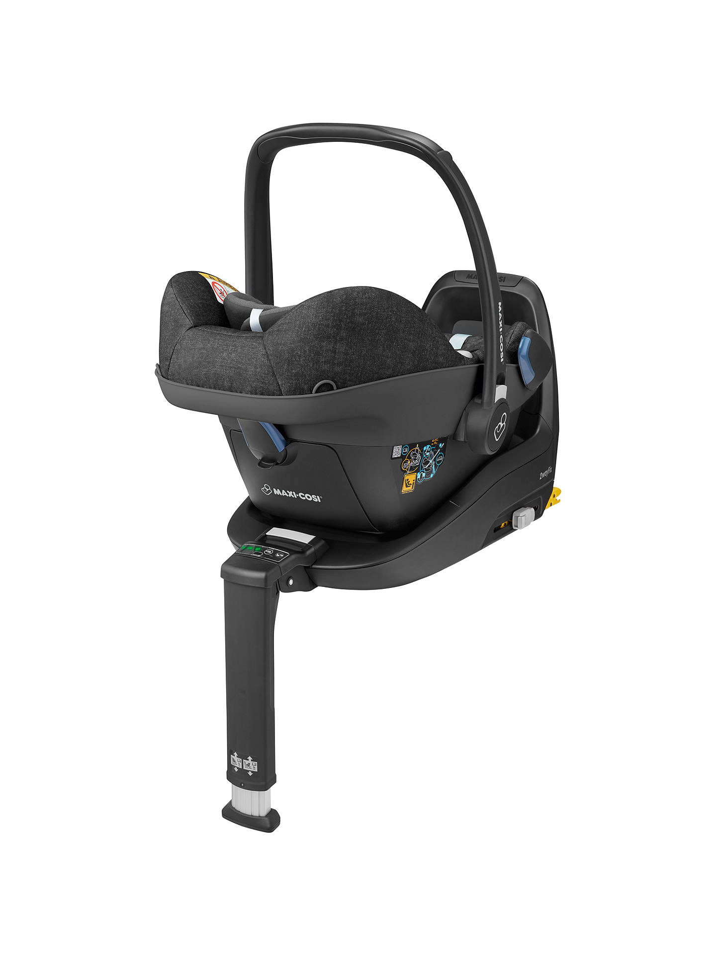 BuyMaxi-Cosi Pebble Plus i-Size Group 0+ Baby Car Seat, Nomad Black Online at johnlewis.com
