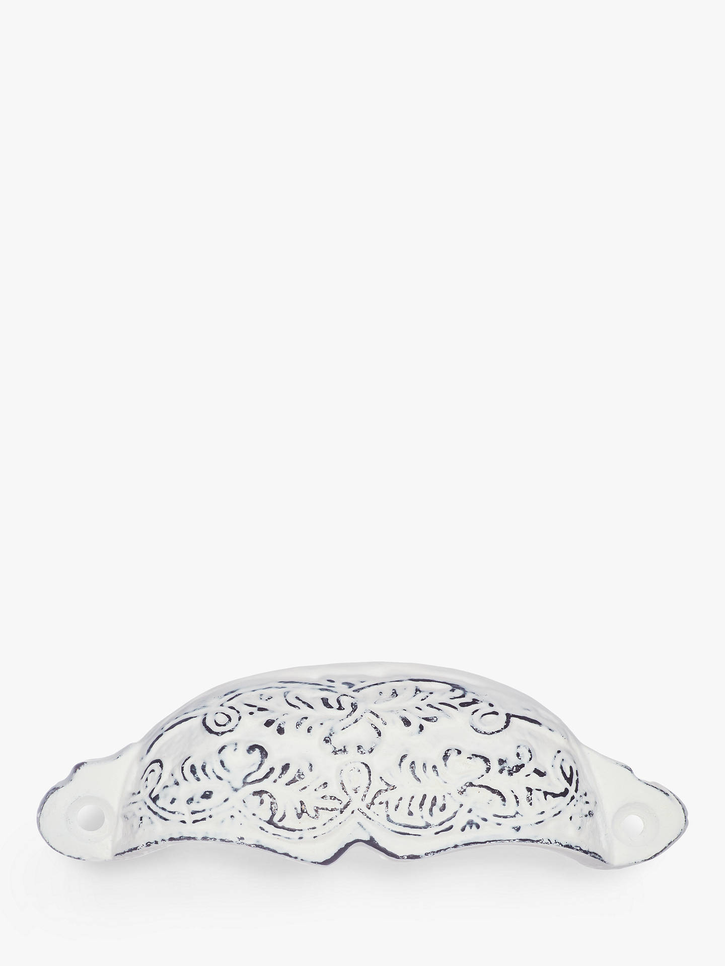 Buy John Lewis & Partners Embossed Drawer Pull, Distressed White Online at johnlewis.com